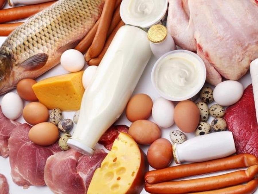 по ценам на мясо, рыбу и молочку