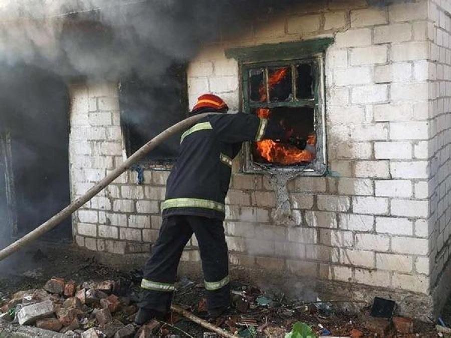 Пожар в летней кухне