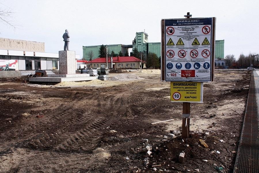 Благоустройство центральной площади в Тарасовском должны завершить в ноябре 2021 года