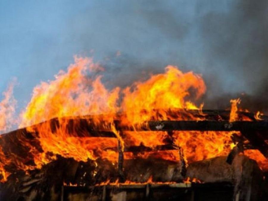 мужчина погиб при пожаре