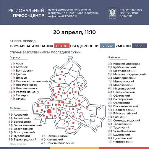 На Дону инфицированных COVID-19 стало больше на 235 человек, в Тарасовском - 5