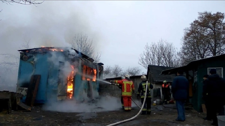 Пожар в хозяйственной постройке